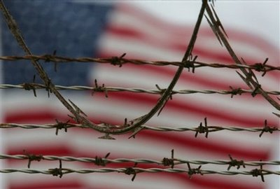 flag barb wire indefinite detention u.s. citizens national defense authorization act obama levin mccain ron paul martial law habeas corpus