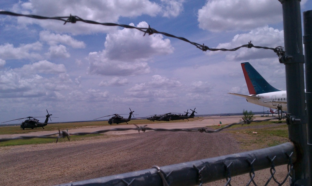 black army helicopters drills military laredo airport JTF DOD CBP