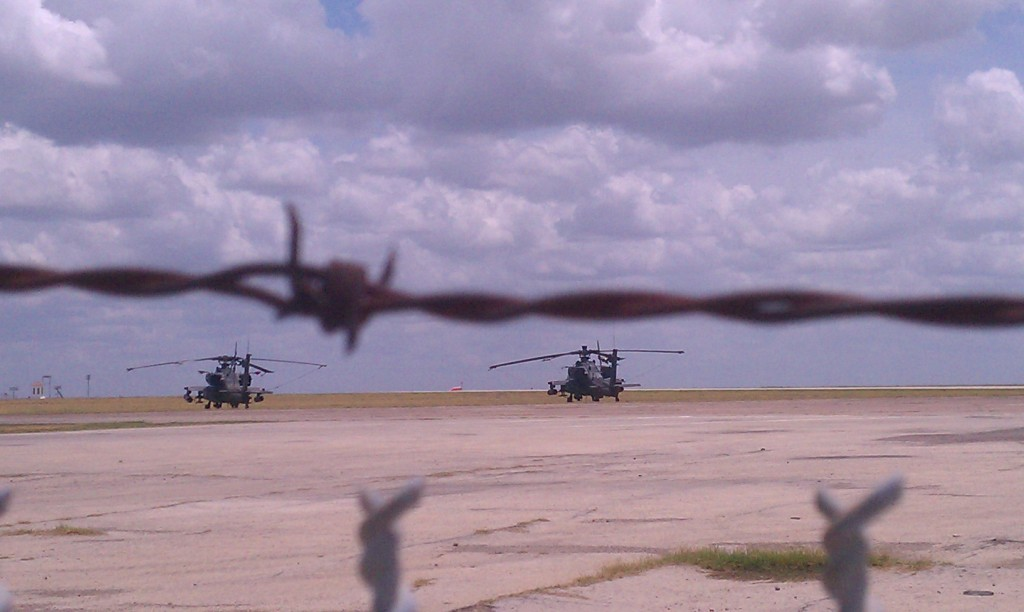 Apache helicopters military drills black hawk army border laredo texas police state militarization