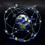 GPS satellites surround the planet