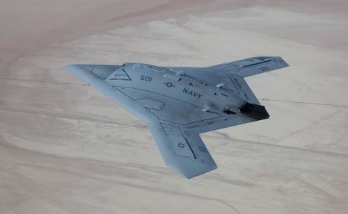 X-47B in flight USAF