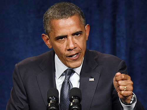 Obama puts on a tough-guy face to call for more death and mayhem, like his predecessor
