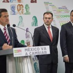 Enrique Peña Nieto, with Luis Videgaray and Jose Manuel Osorio Chong