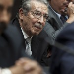 Guatemala's former dictator José Efraín Ríos Montt attends a court session to hear the judge's ruling in Guatemala City, Monday, Jan. 28, 2013. Shockingly, no American or Israeli government officials will face prosecution.
