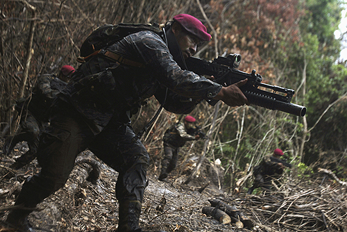 Training terrorists: U.S. dollars and logistical support feed into training counter-narcotics/counter-terror groups like Guatemala's Special Forces, the Kailbiles, who go on to enlist with powerful drug cartels.