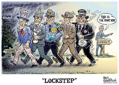 """Lockstep"" by Ben Garrison"