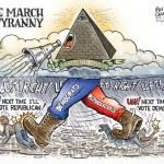 """The March of Tyranny"" by Ben Garrison, bengarrison.com"