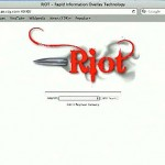 "The search screen of Raytheon's ""extreme-scale analytics"" tracking software, Riot (Rapid Information Overlay Technology)"