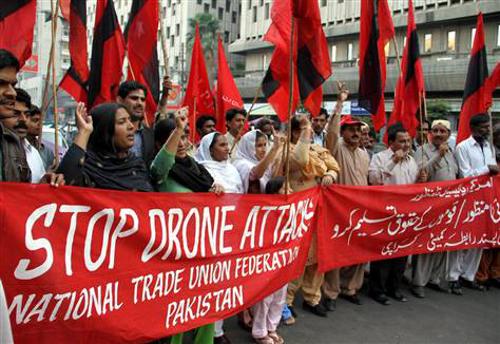 Stop Drone Attacks Pakistan Karachi US Drones Taliban al-qaida