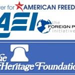 War Party Financiers AEI Heritage Foundation Center for American Freedom Foreign Policy Initiative PNAC Project for a new american century tracesofreality traces of reality TOR