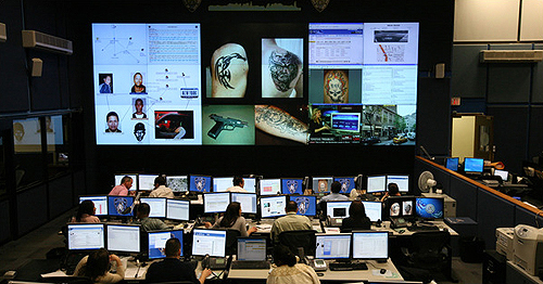 Philip K. Dick Rolls in his Grave: NYPD's Real Time Crime Center. PHOTO: Chester Higgins, Jr./New York Times