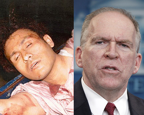 Abu Zubaydah, the tortured (left) and John Brennan, the torturous (right)