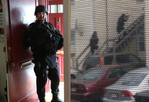 Boston Lockdown Bombing Marathon Manhunt SWAT Police Military Raids Police State Martial Law