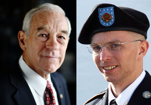 Ron Paul and Bradley Manning