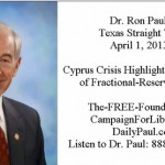 Ron Paul Texas Straight Talk April 1, 2013
