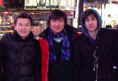 Azamat Tazhayakov, Dias Kadyrbayev and Dzhokhar Tsarnaev