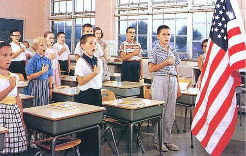 Kids Reciting the Pledge of Allegiance