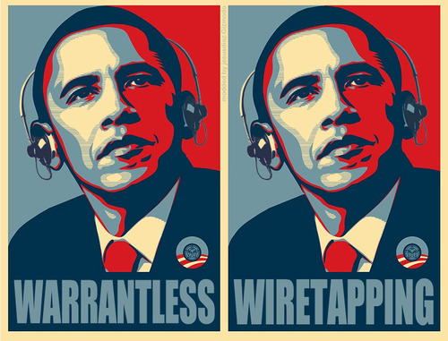 Obama Warrantless Wiretapping NSA PRISM