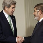 John Kerry and Mohamed Morsi