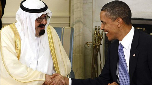 King Abdullah and Obama