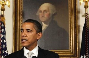 Barack Obama and George Washington