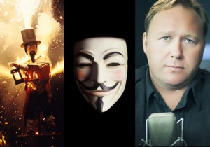 Guy Fawkes, Hollywood, and Alex Jones TOR tracesofreality traces of reality