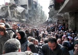 Syrians flee the devastation wrought by war