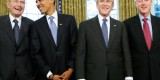 Bush, Clinton, W, and Obama